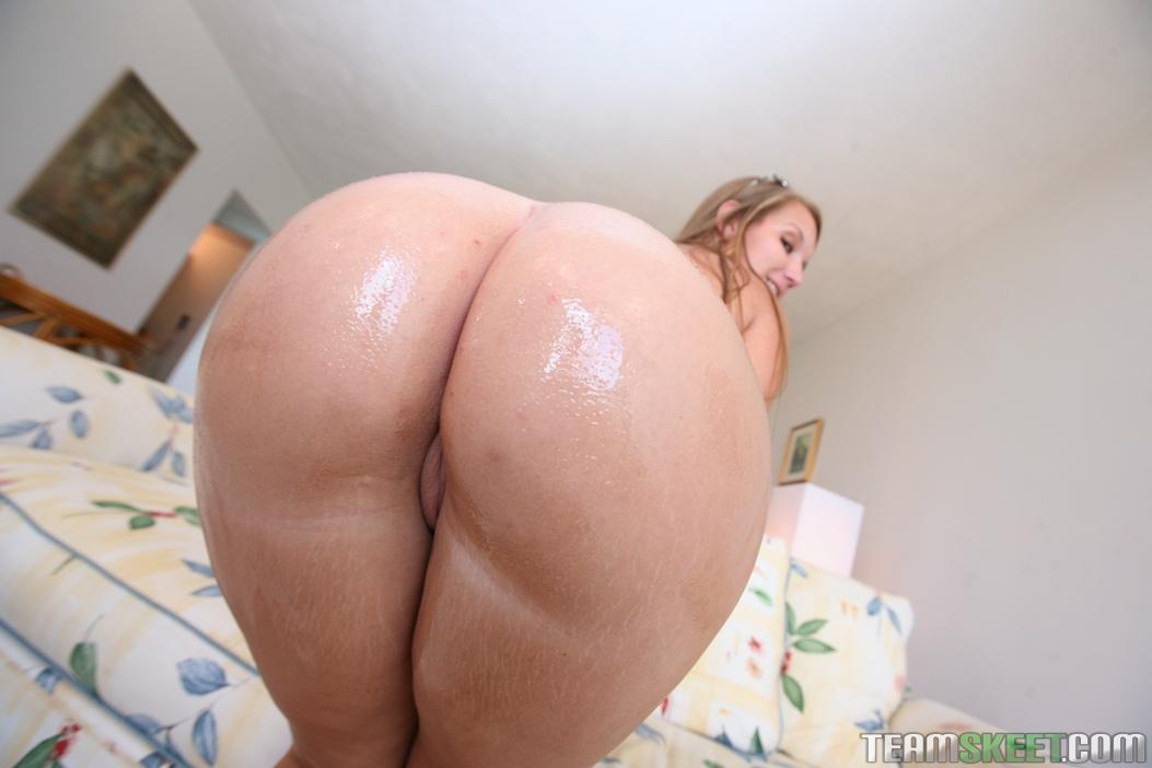 Big Ass Blonde White Thong