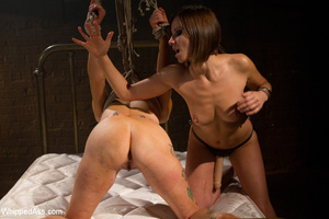 Wicked tying girl spanked