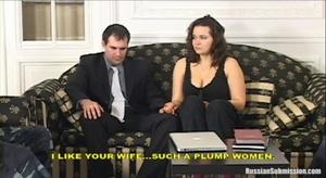 Busty beautiful wife threatenend