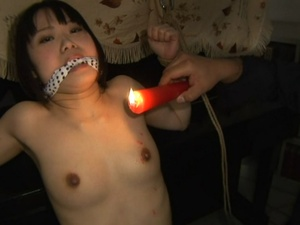 Blindfolded school girl roped and tortured badly