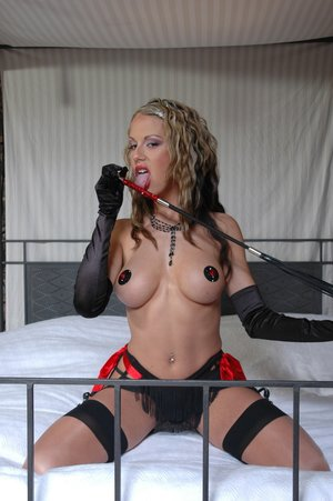 Busty blonde cougar gloves