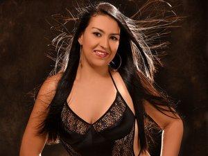 Latin girl black long