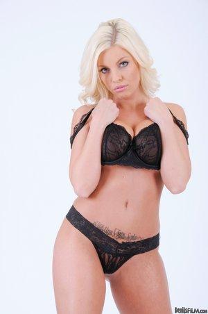 Blonde beauty huge boobs