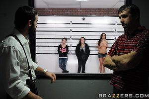 Horny brunette plea detective