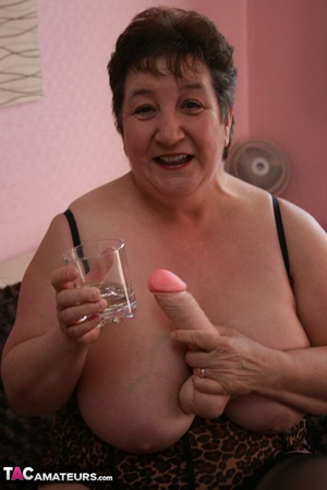Bbw granny black brown