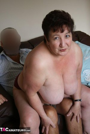 Bbw granny teases hubby