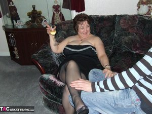 Bbw granny black nighty