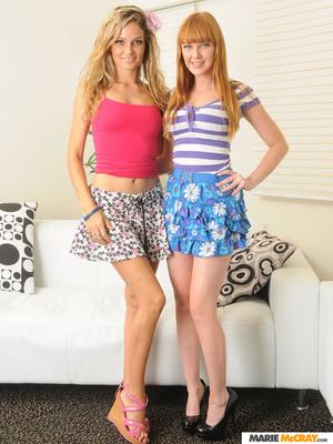 Foxy blonde pink shirt