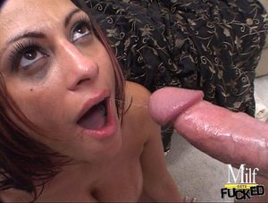 Massive tits brunette throat