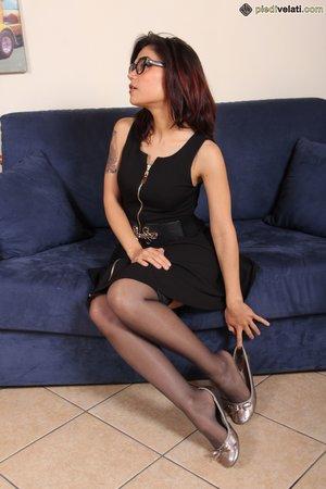Naughty stocking feet