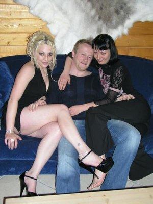 Pale blonde brunette fucks