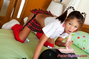 Asian amateur riding