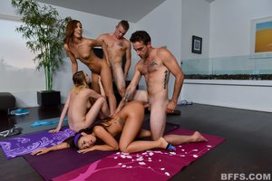 Young lucky guy orgy