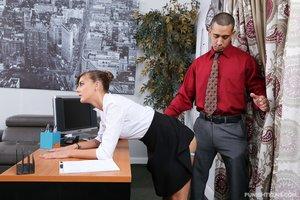 Rough boss fucks young secretary