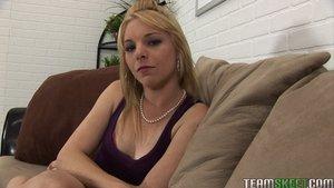 Adorable blonde teen lingerie