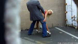 Squatting fence bleach blonde
