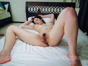 Minami Asano hairy asian gangbang