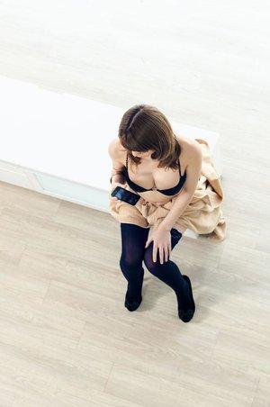 Big boobs japanese high heels
