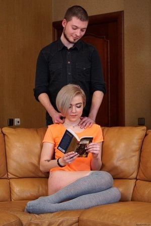 Ukrainian blonde teen pov blowjob