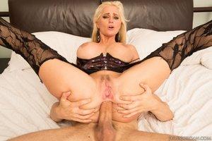 Dirty blonde milf blowjob