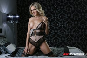 Sexy blonde stepmom