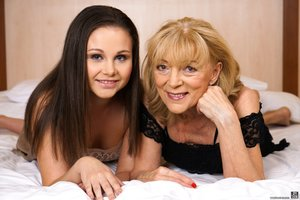 Brunette young russian lesbian