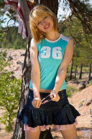 Adorable russian teen