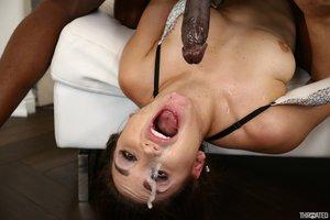 Interracial deepthroat