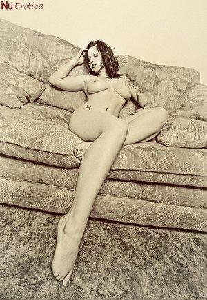 Erotic brunette