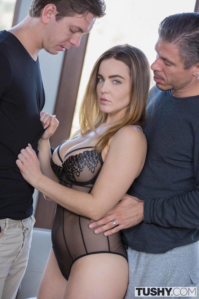 Tushy French Threesome - PornPicturesHQ.com