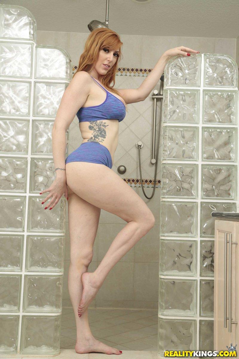 redhead pale milf