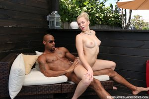 Blonde teen missionary interracial