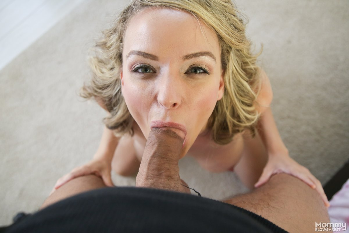 Blonde Cougar Blowjob Pov