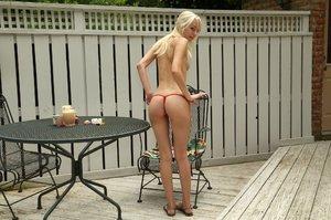 American blonde teen
