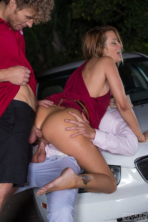 Wicked blonde anal threesome