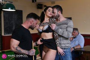 Hungarian brunette wife threesome