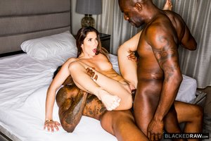 Interracial french anal threesome