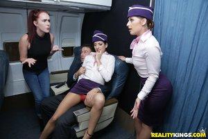 Sneaky flight attendants