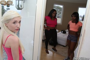 Lesbian blonde teen