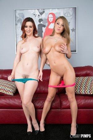 American sexy brunette lesbians