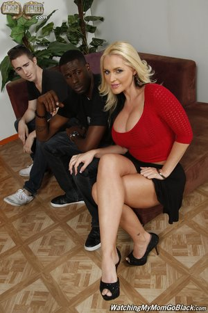 Blonde mom interracial