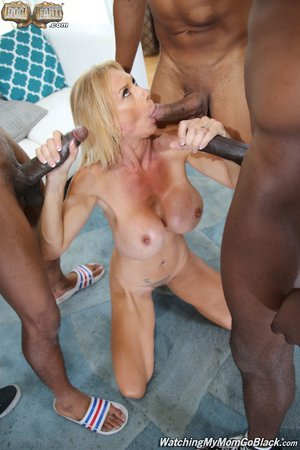 Mom interracial gangbang