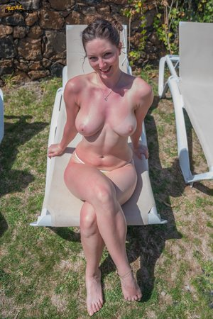 Natural tits tan lines