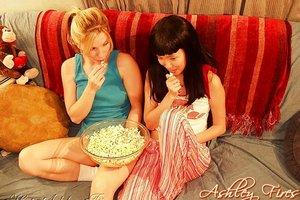 Lesbian blonde milf amateur