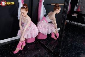 Teen tiny tits ballerina