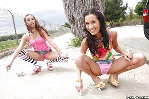 Stripping hot teen latina lesbians