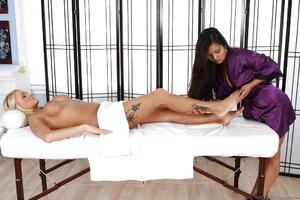 Lesbian asian massage fuck