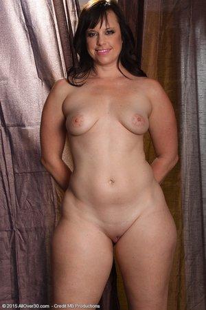 Chubby dark haired milf