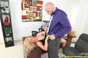American mature big tits office secretary