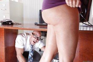 American cute big tits office secretary
